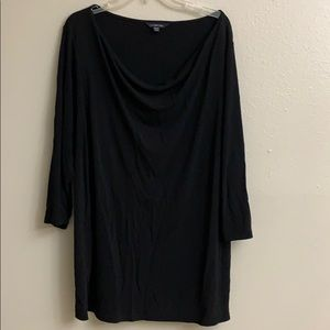 Women's plus size 3/4 sleeve draping front blouse
